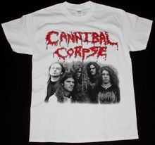 CANNIBAL CORPSE CLASSIC LINE UP DEATH METAL GRINDCORE NILE NEW WHITE T-SHIRT 100% Cotton Fashion Summer Paried T Shirts