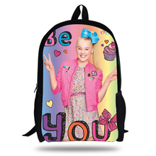 2018 Newest JOJO Siwa Printing Children School Bags Boys Teenage Girls character Superstar Colorful Daily Casual Backpacks 2018 newest backpack overwatch hot pc game trecer reaper printing children school bags boys teenage girls casual backpacks