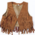 2017 Spring/Autumn Baby Girls Fashion Vest Children Solid Color Fringed Tops Coat Kids Casual Lovely Outwear Clothing Waistcoat