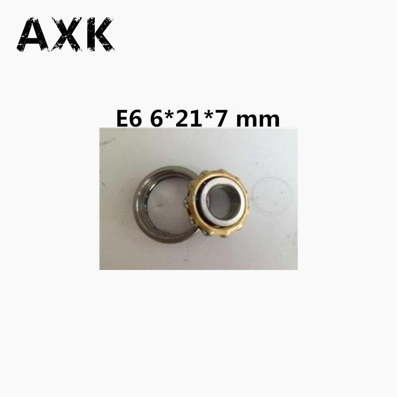 Free shipping high quality 1pcs E6 Magneto Bearing 6*21*7 mm Angular Contact Separate Permanent Motor Ball Bearings EN6 FB6