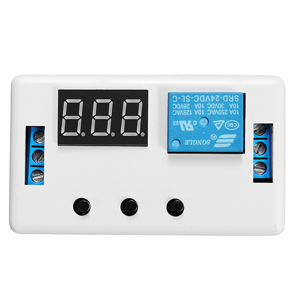 цена на High Quality Digital LED Display DC 24V Time Delay Relay Module Programmable Timer Relay Control Switch Trigger Cycle with Case
