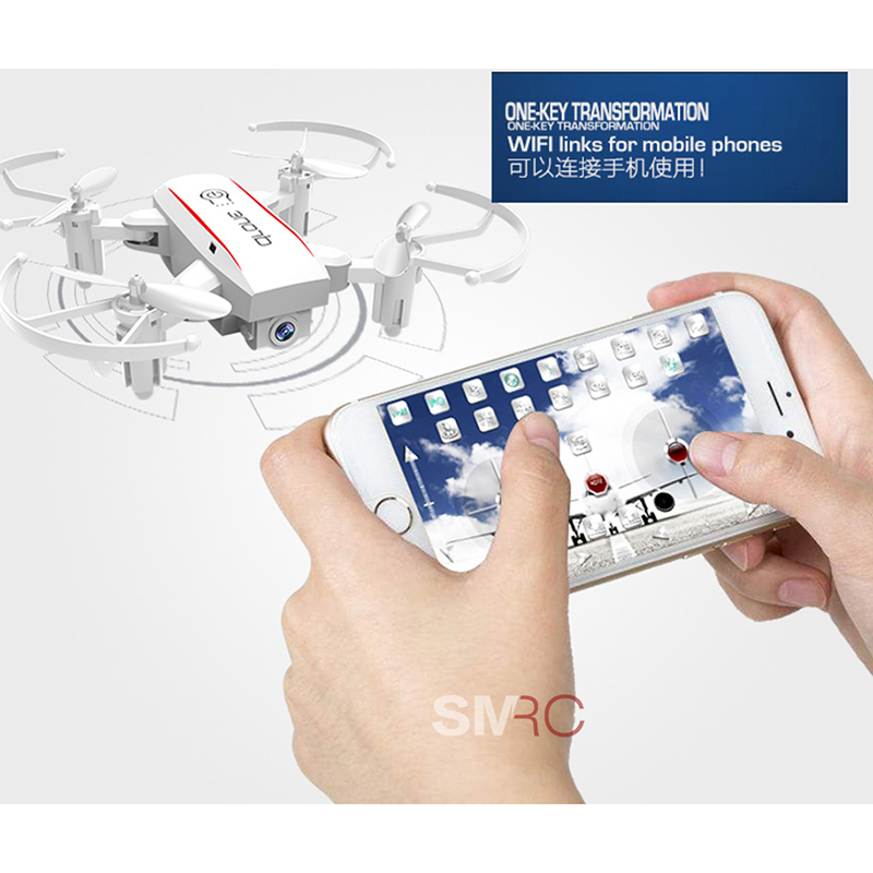 2019 new Mini Drone With Camera HD wifi Camera Foldable RC Quadcopter Altitude Hold Helicopter WiFi FPV Micro Pocket Drone toy in RC Helicopters from Toys Hobbies