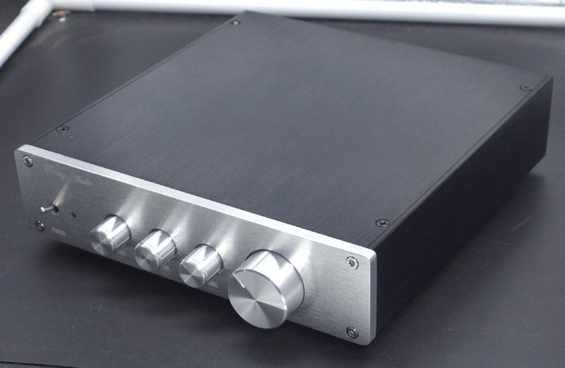 Stereo Audio Preamplifier finished product OPA2604 LME49720 F1 amplifier/class a power amplifier with three sections of volume image
