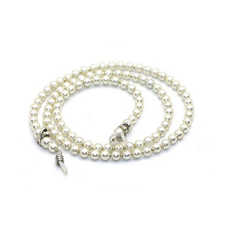 Glasses chain White Small Pearl Beaded Eyeglass Chain Sunglass Holder Strap Lanyard Necklace