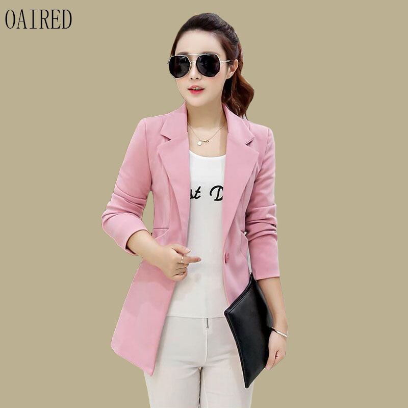Spring And Autumn Suit Women Blazer 2019 New Fashion Blazers Women Clothing Short Slim Long Sleeve Suits Female Outerwear Black(China)