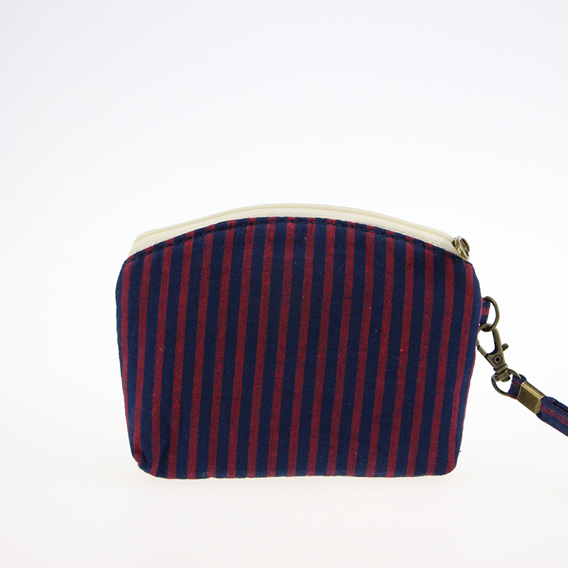 Katuner Cute Wallet Kids Striped Bow Coin Purse For Girls Canvas Coin Pouch Double Zipper Women Clutch Purse Porte Monnaie KB036