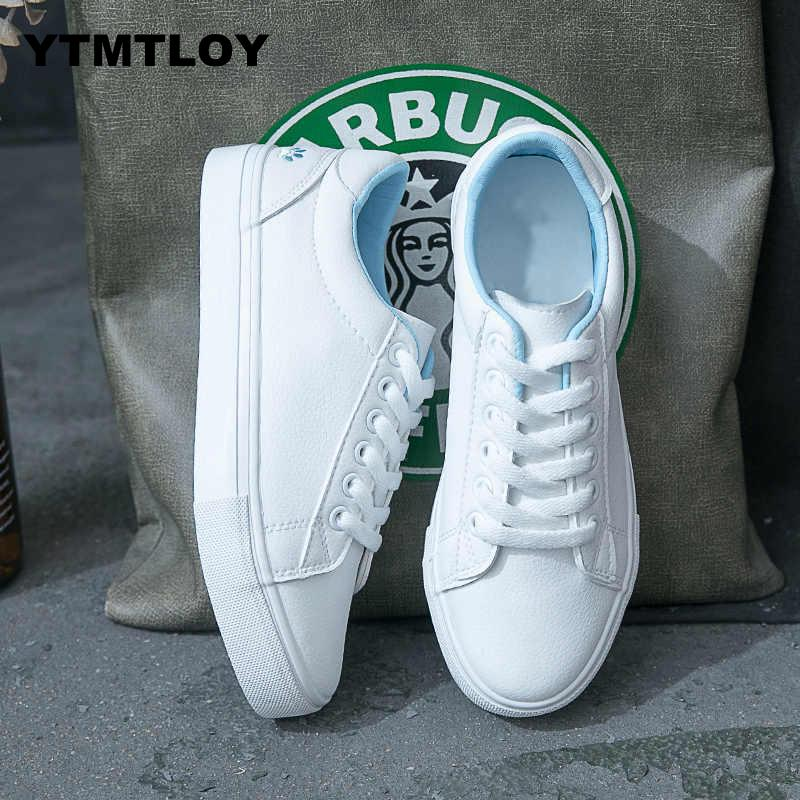 Women Fashion Breathble Vulcanized Shoes Casual Tenis Feminino Zapatos De Mujer Slimming Cheap White Sneakers  Canvas Shoes Cat