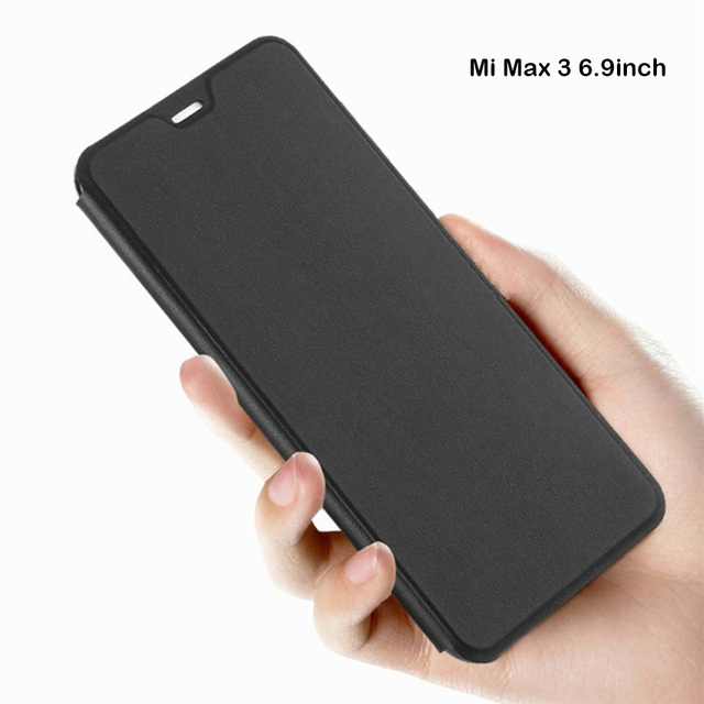 online store 6d8c5 50aa3 US $3.99 20% OFF|For Xiaomi mi max 3 Case MAX3 Flip Cover leather Plastic  Protective Case Capas Coque Apises Original Xiomi Mi Max 3 Case-in Flip ...