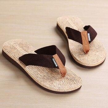 Brand Men flip flops Summer Beach Sandals Slippers for Men Flats Non-slip wear-resistant slippers EVA cheap special slippers 1