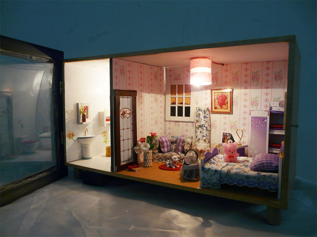 Diy handmade model series doll house miniatures for kids birthday gift,christmas gift New year gift