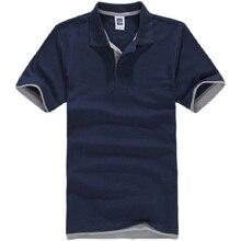 Брендовая мужская рубашка поло, мужская хлопковая рубашка поло с коротким рукавом, Спортивная рубашка для тенниса размера плюс, мужские блузы, топы
