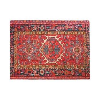 Alfombra persa con personalidad, alfombra oriental, decoración roja para el hogar, alfombra de entrada sin salida de escape, alfombra de goma lavable, alfombra para el hogar