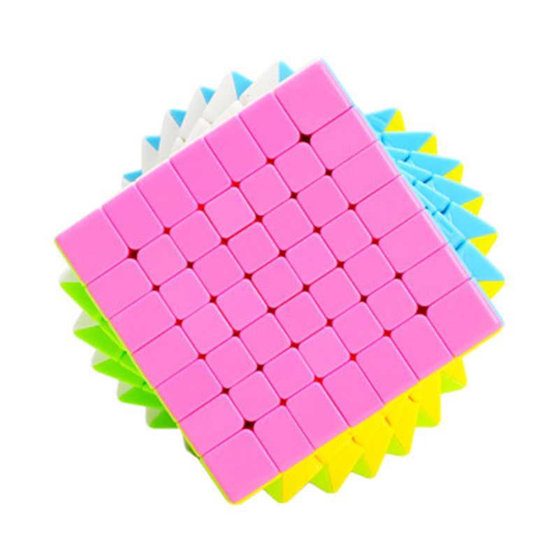 7x7x7 Solid Color High Brightness Magic cubes Speed Competition Cube Plastic Toys for ch ...