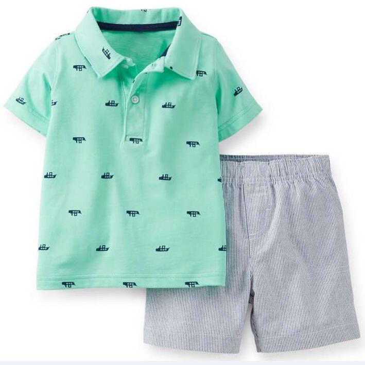 Baby boys clothes summer style newborn baby clothing polo t shirt + short pants 2 pieces boys sport clothes infants bebe set