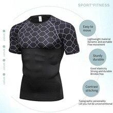2018short sleeve sport shirt men quick dry tight running tshirt soccer training jersey men's t shirt for fitness mens sportswear