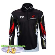 Winter Fishing Jacket Shirt Outdoor Sportswear Sun Protection Jersey Thermal Fleece Wear Sports Apparel