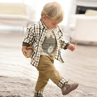 Toddler Boy Clothes 2016 New Fashion Baby Boy Clothes Sets A Shirt With T Shirt With