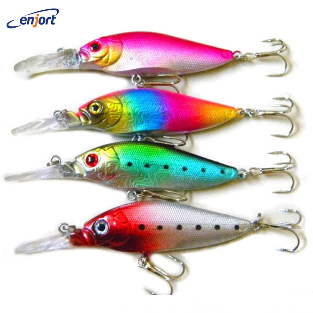 4pcs Minnow Fishing Lure 11 CM 12G bass deep lures for fishing tackle japan plastic lure swimbaits Free shipping