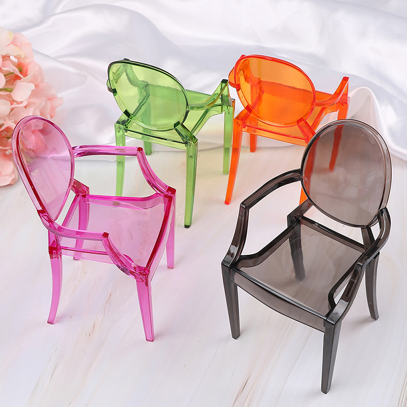 "1//6 Scale Storage Chairs Orange Plastic Model for 12/"" Action Figures Accessories"