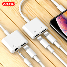 AOXIN зарядный аудио адаптер для Apple iPhone 7 8 Plus XS Max ios 12 музыка и звонки для наушников аудио Зарядка адаптер конвертер