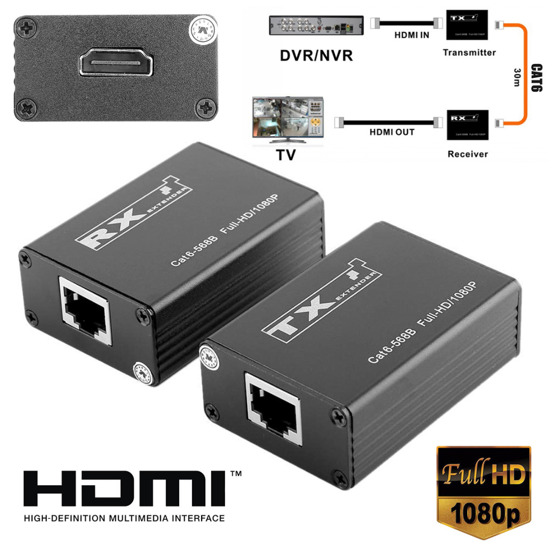 1Pair 30m Wireless HDMI Transmitter Receiver Pro HDMI Extender Splitter Support 1080P 165MHz/165Gbps Single Channel Mayitr