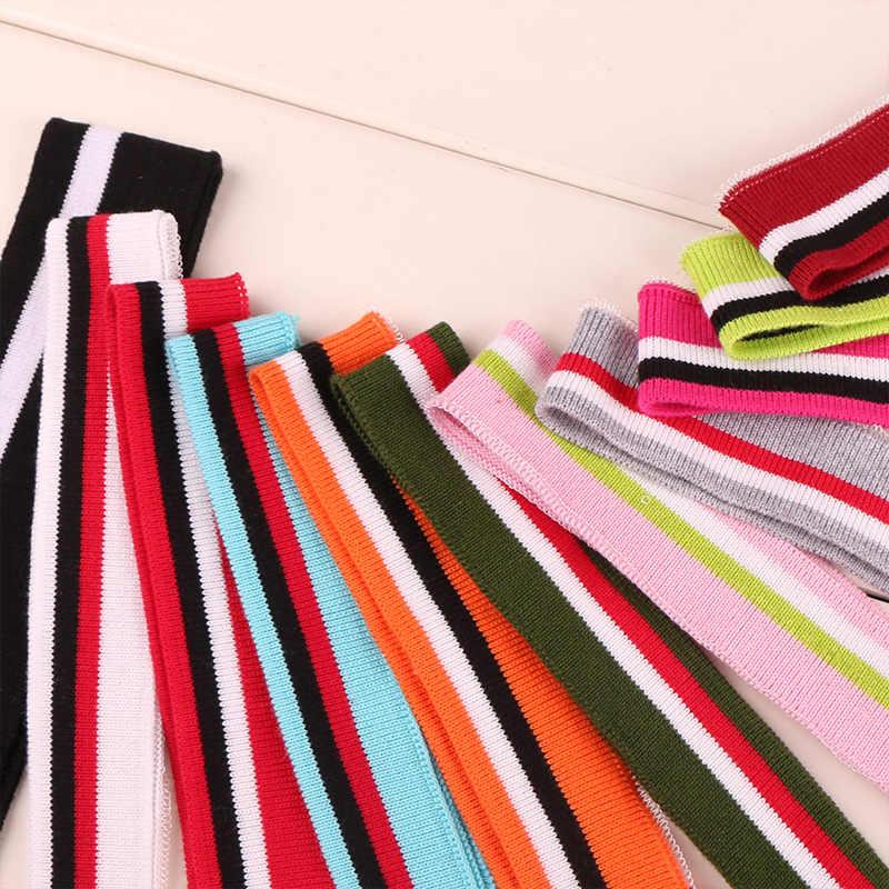 ソフトストレッチコットンニット生地 DIY リブ生地縫製襟袖口衣服アクセサリー Rib ニット生地