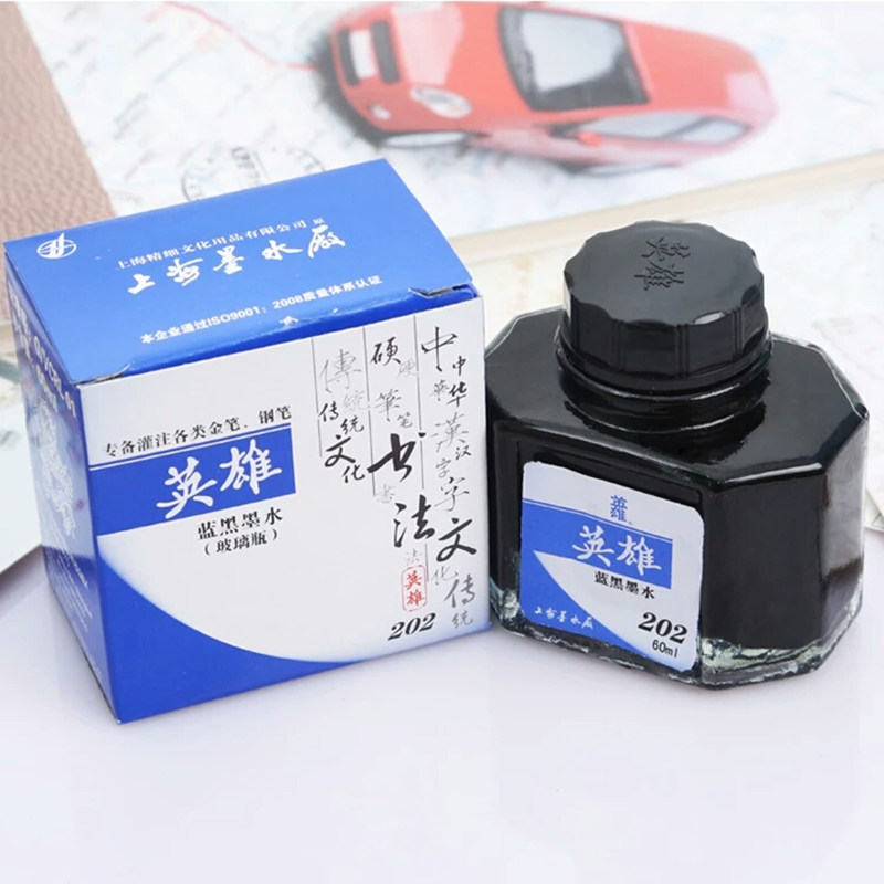 Brand fountain pen ink 50 ml glass bottled black blue ink refill office supplies for fountain pens stationery school chancery deli metal fountain pen stationery e ef elegant pens for writing school high quality ink fountain pen school
