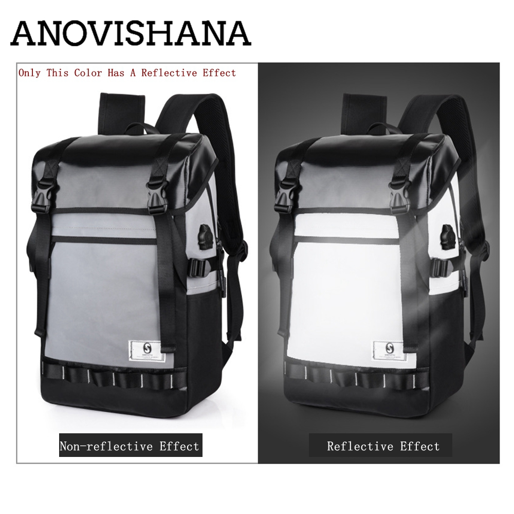 ANOVISHANA grande capacité sac à dos hommes USB sac de voyage Mochila Masculina Bolsa sac d'école ordinateur portable portable sacs à dos sac à dos N023