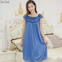 free shipping Summer sexy women nightgown M 2XL 7 colors female lace silk sexy sleepwear women's sexy skirt plus size