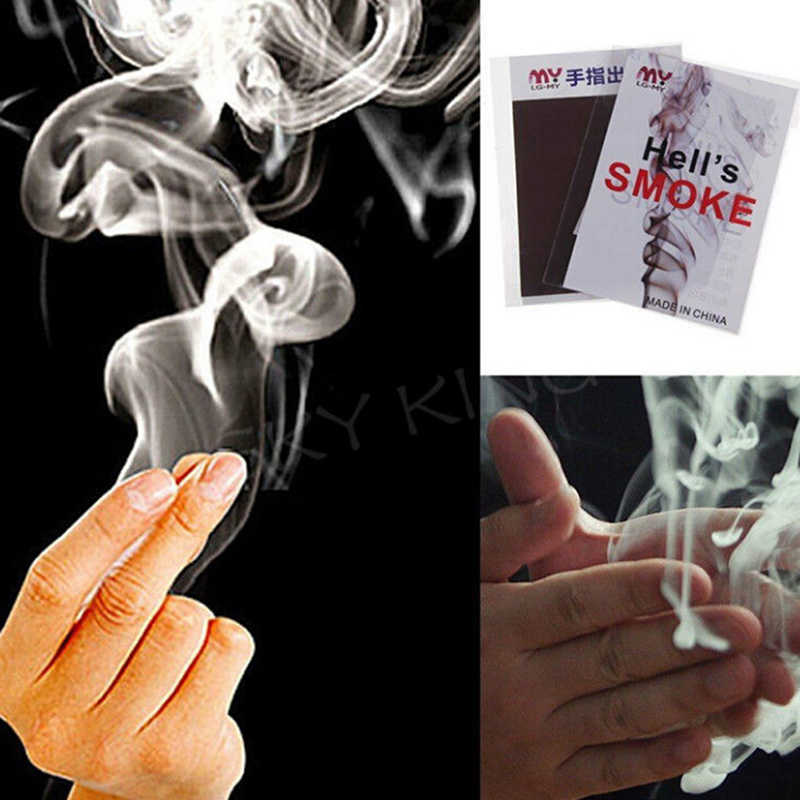 TOYZHIJIA Hot Sell 1Pc Magic Trick Smokes Surprise Prank Joke Mystical Fun Magic Smoke from Finger Tips Interesting