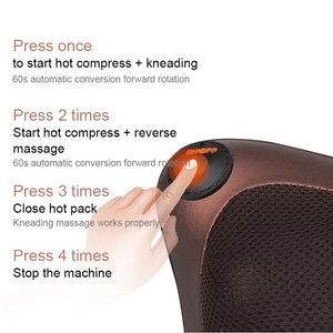 Image 2 - Boyun masajı araba ev servikal Shiatsu ısıtma masaj boyun geri bel vücut elektrikli çok fonksiyonlu masaj yastığı yastık