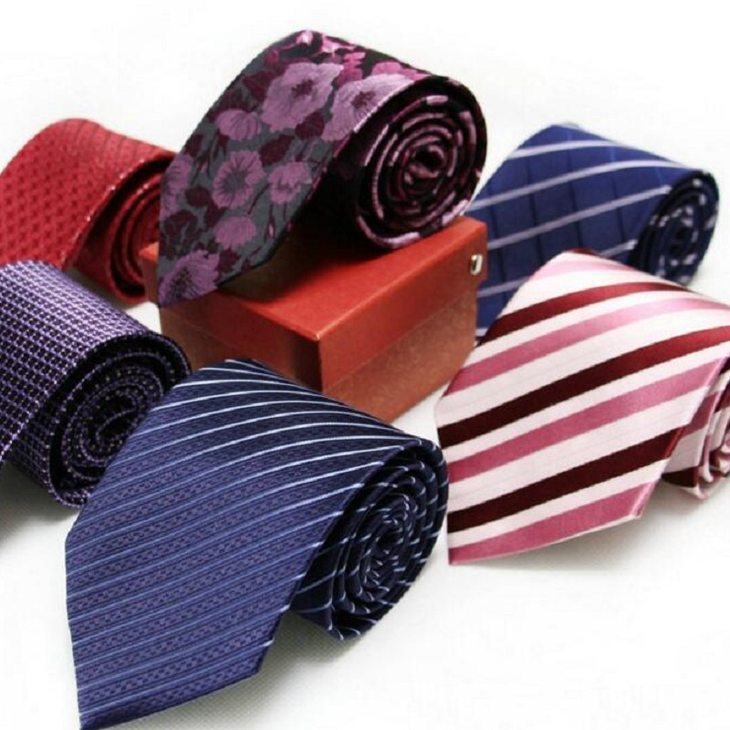 Real Silk Necktie 9CM Tie For Men Customized Logo Available Strips Waterproof Antifouling 150CM Longer