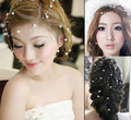 The bride mantianxing pearl chain hair accessory hair accessory 1.25 meters df285 free shipping 10pcs/lot