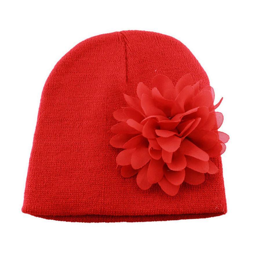 Детские muts зимние теплые Малыши младенческой для маленьких девочек шифон цветок Головные уборы шляпу ребенка капот Enfant детские шапки для д...