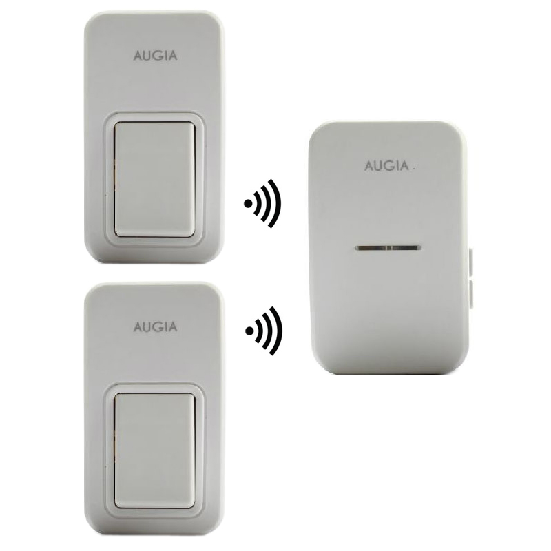 38 Ringtones Wireless Cordless Remote Doorbell Door Bell Chime,Two Buttons,Transmitters,No need battery, Waterproof, 110-220V 2 push buttons 1 doorbell remote control wireless cordless door bell 38 ring tones no battery self powered button door bell