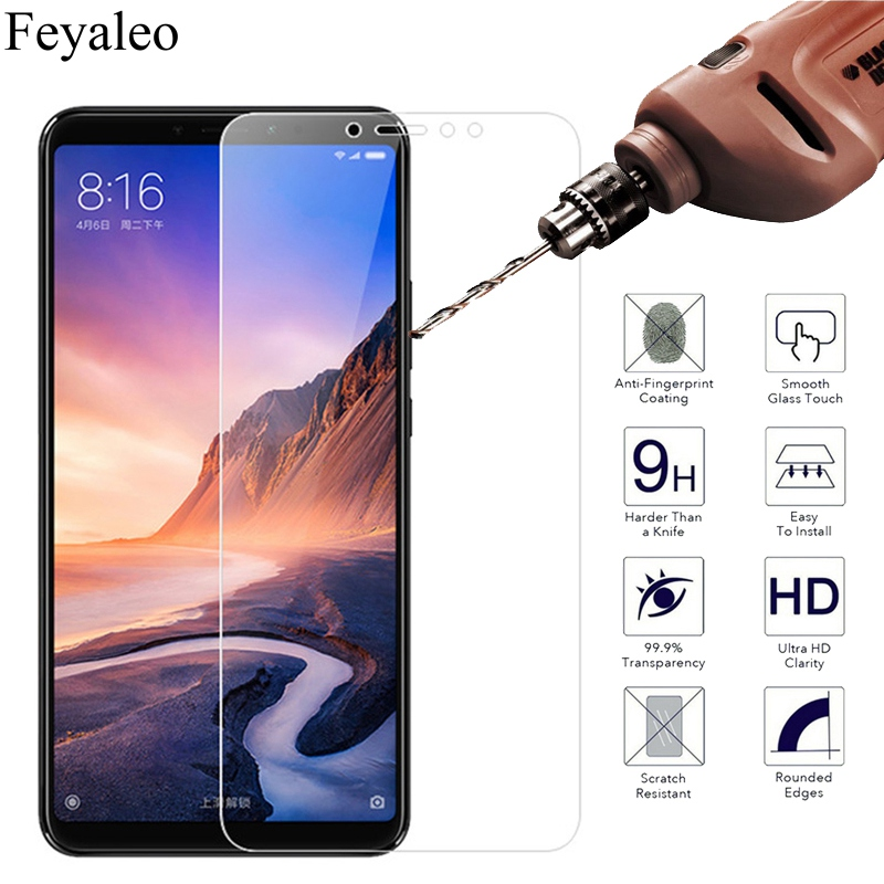 6.9 9H 0.26mm 2.5D Tempered Glass For Xiaomi Mi Max 3 Screen Protector Glass For Xiaomi Mi Max 3 Protective Guard Cover Film