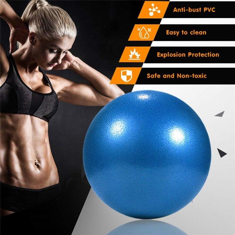 1 Pcs 25cm Yoga Ball Physical Fitness Appliance Exercise Balance Wheat Tube Ball For Trainer Balance Gymnastic Yoga Pilates 0.22