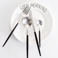 18 10 Stainless Steel Table Knives Forks Cutlery Set 4pcs High Grade Eco Friendly Metal Western