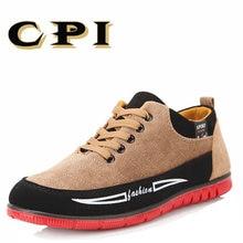 CPI Új magas minőségű férfi alkalmi vászon cipő All-match sekély British Style lélegző Kényelmes férfi cipő DD-18