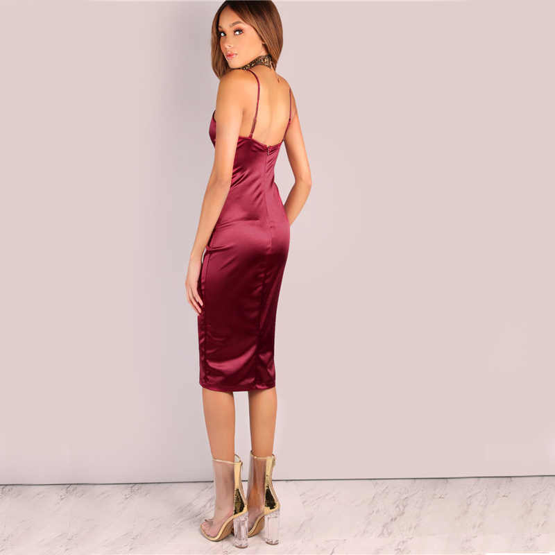 23a6e78e4652c Detail Feedback Questions about Backless Deep V Neck Silk Satin ...