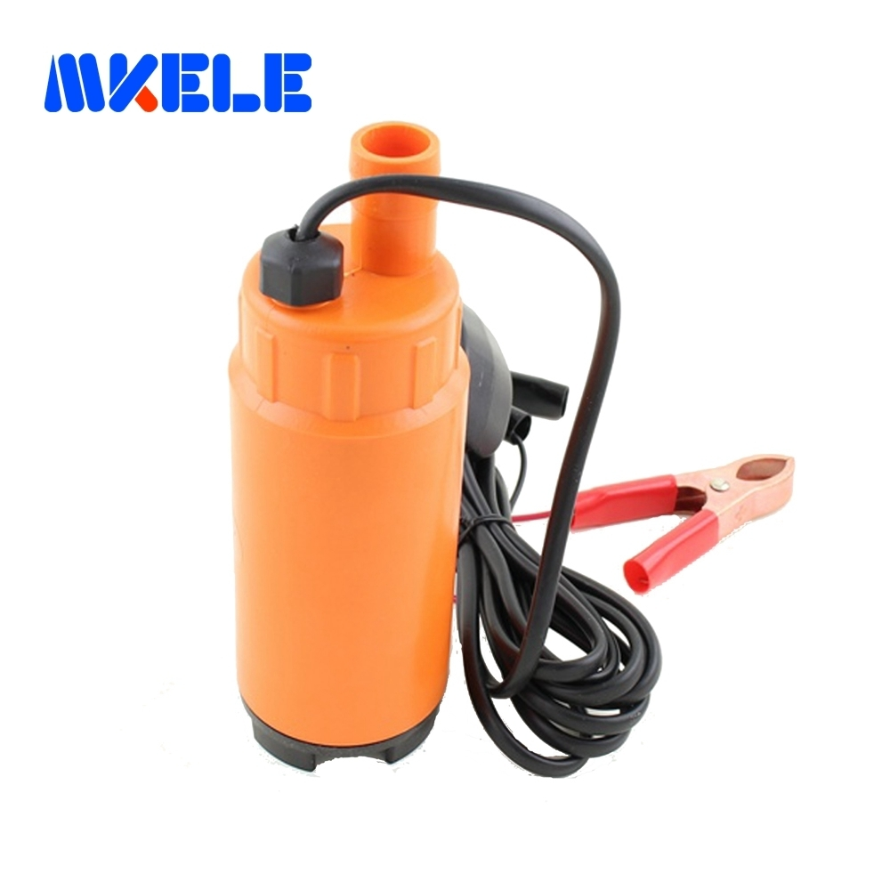 Free shipping DC 12/24V Plastic Submersible Diesel Fuel Water Oil Pump Car Camping Portable 30L Per Minute