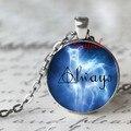 Sempre Doe patrono símbolo Harry Potter sempre pingente de vidro colar patrono colar cabochão de vidro