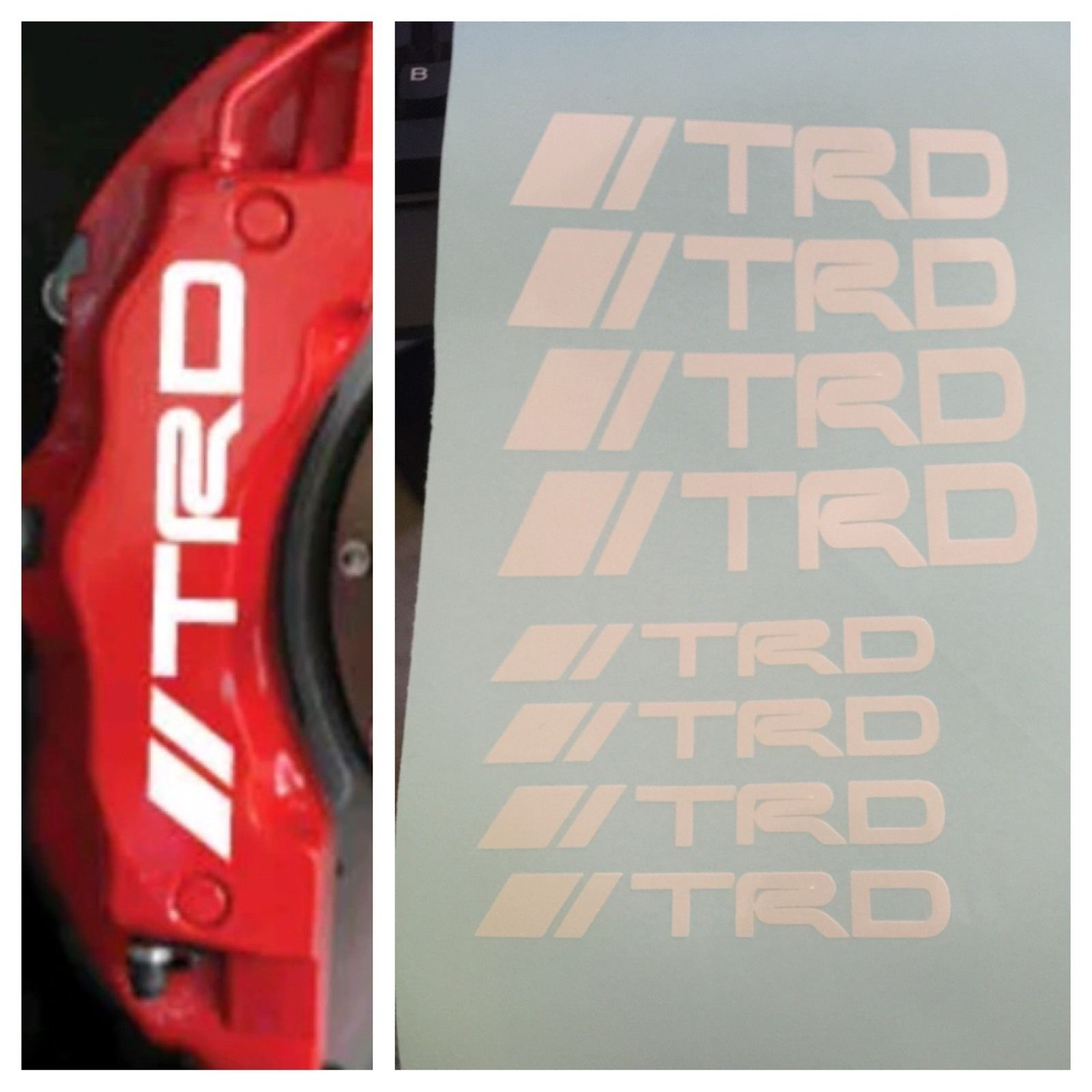 For Pc Set TRD Brake Caliper Vinyl Sticker Decals Logo Graphics - Vinyl decals for race carspopular trd vinyl decalbuy cheap trd vinyl decal lots from china
