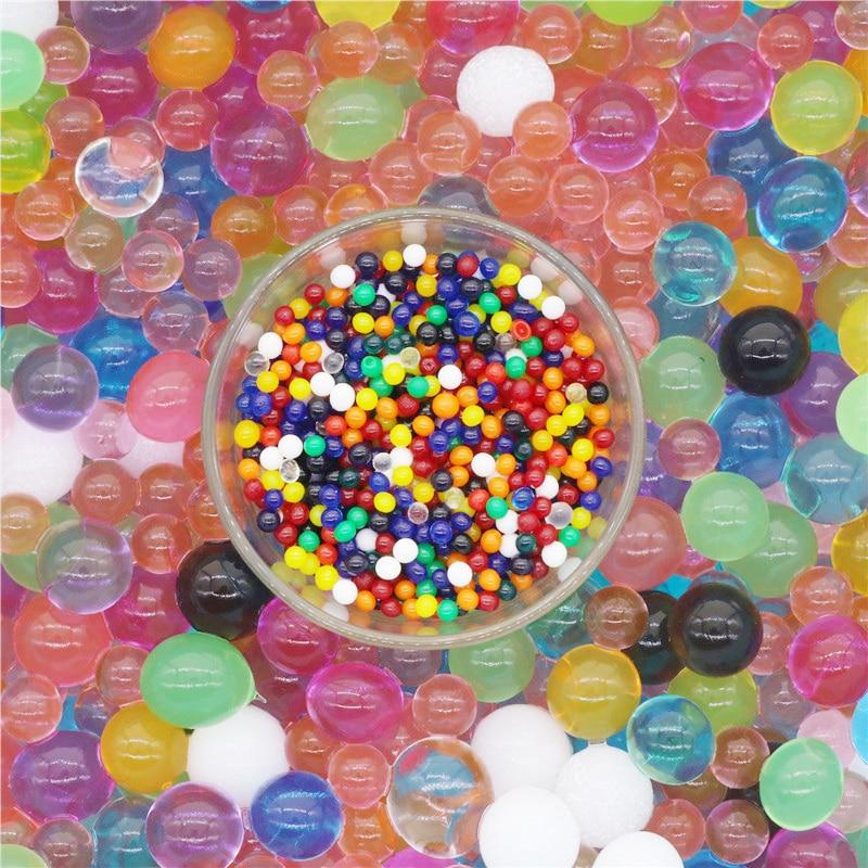 1 Bag 1000 Pcs Water Beads Pearl Shaped Crystal Soil Water