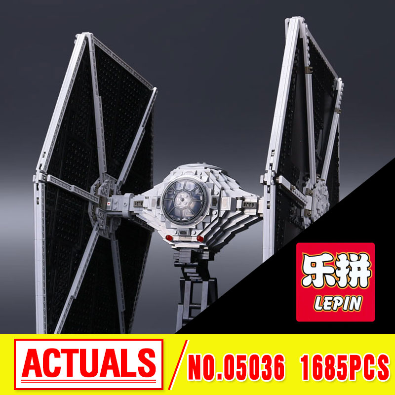 NEW 1685pcs Lepin 05036 1685pcs Star Series Tie Building Fighter Educational Blocks Bricks Toys Compatible with 75095 wars lepin 05036 1685pcs star wars tie fighter building educational blocks bricks toys compatible legoinglys 75095 gifts