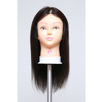 100 Real Human Hair Training Head Practice Hairdressing Mannequin Cosmetology Hair Styling Mannequins Free Shipping