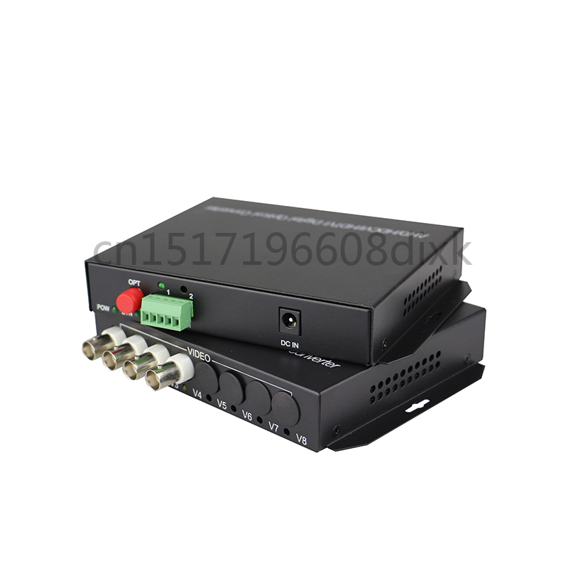 Image 4 - HD video AHD CVI TVI Fiber optical converter, 4 CH 720P 960P video fiber optic transmitter with reverse RS485 data-in Fiber Optic Equipments from Cellphones & Telecommunications