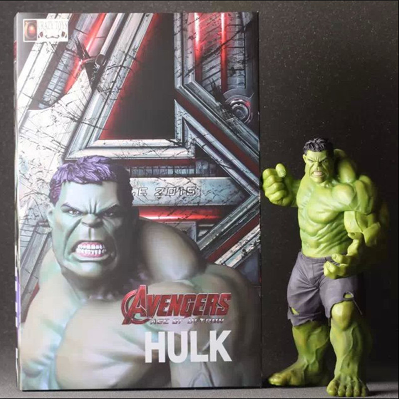 The Avengers 2 Hulk Toys Solid PVC Action Figure Hero Man Model Toy Collectable Dolls In Box Decoration About 30CM Hulk Dolls marvel select avengers hulk pvc action figure collectible model toy 10 25cm