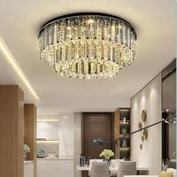 Fashion Crystal LED Lamp Ceiling Lighting Three color dimmable Ceiling Light Fixtures Living Room Plafonnier Bedroom Lustre