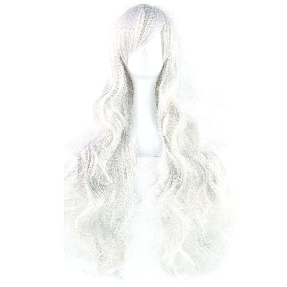 Soowee 20 colores 32 pulgadas pelucas largas de mujer pelo sintético resistente al calor blanco negro ondulado Cosplay peluca fiesta accesorios para el cabello